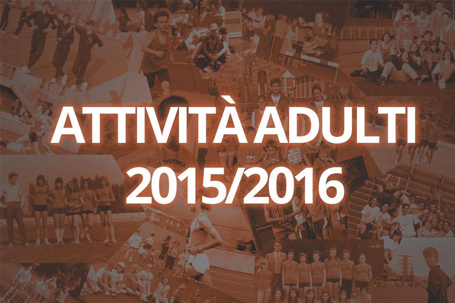 Attività per gli adulti 2015/2016