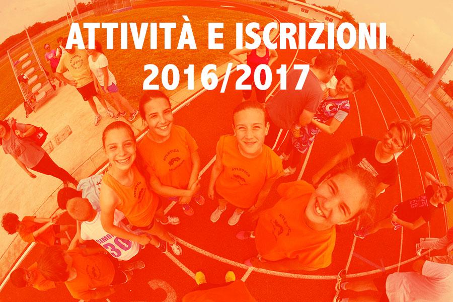 Ripresa attività e nuove iscrizioni 2016/2017!